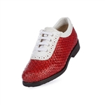 Aerogreen Alba Ladies Golf Shoe - Red/White