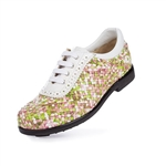 Aerogreen Messina Ladies Golf Shoe - Pink/Green Multi
