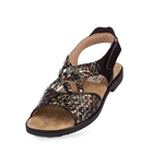 Aerogreen Salerno Ladies Golf Sandal - Black Multi
