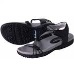 Sandbaggers Galia Black Golf Sandal