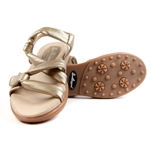 Sandbaggers Grace Gold Golf Sandal