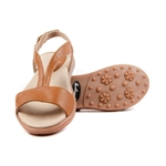Sandbaggers Morgan Butterscotch Golf Sandal