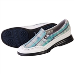 Sandbaggers Vanessa Ocean Plaid Golf Shoe