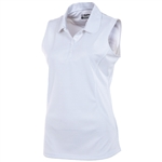 Sunice Maria X-Static Sleeveless Golf Polo - White