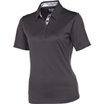 Sunice Silver Cara Golf Polo Charcoal