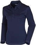 Sunice Silver Monia Long Sleeve Golf Polo Midnight