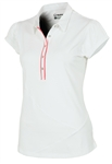 Sunice Silver Milicent Polo with Ruching and Pocket