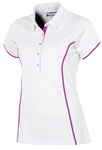 Sunice Silver Dalia Golf Polo with Mesh Back - Pure White
