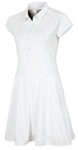 Sunice Silver Elsa Golf Dress with Perforated Skirt Pure White