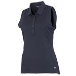 Sunice Kadee Jacquard Coollite Sleeveless Polo - Black