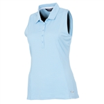 Sunice Kadee Jacquard Coollite Sleeveless Polo - Aquarius