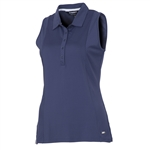 Sunice Kadee Jacquard Coollite Sleeveless Polo - Midnight