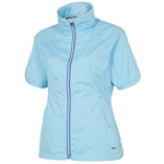Sunice Golf Brittany Short Sleeve Wind Jacket Aquarius Dot