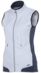 SUNICE Candy Thermal Power Stretch Lined Full Zip Vest White
