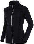 Sunice Ivory Lightweight Full Zip Stretch Jacket Black