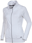 Sunice Ivory Lightweight Full Zip Stretch Jacket Pure White