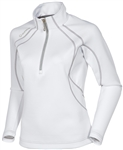 Sunice Megan Lightweight Thermal Stretch Pullover Pure White