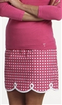 Golftini Shirley Temple Pink/White Check Skort