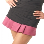 Smashing Golf Emma Pleated Tennis Skort Black Pink