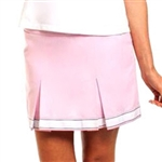 Golftini Signature Pleat Golf Skort - Cameo Pink
