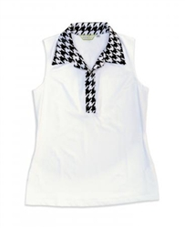 Tracey Lynn Houndstooth Sleeveless Top