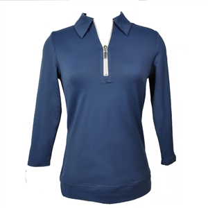 Wear To Win 3/4 Length Zip Top Navy