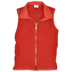 Wear To Win Tailored Fleece Vest Burnt Orange