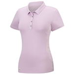 Adidas Advanced Texture Mix Short Sleeve Polo- Light Orchid