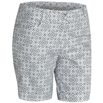 Adidas Essentials Lightweight Printed Short Pearl Grey