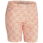 Adidas Essentials Printed Short Flash Orange