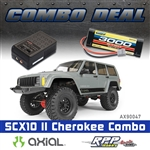 Axial 1/10 SCX10 II 2000 Jeep Cherokee 4WD RTR Combo w/Charger and NiMh Battery
