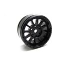 Gear Head RC M-12 Micro Crawler Wheels, Anodized Black (4)