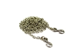 Gear Head RC 1/10 Scale Steel Chain, 24 inches long with Grab Hooks