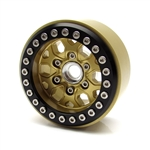 Gear Head RC 1.9 Tombstone Beadlock Wheels, Gold (4)