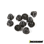 Incision 4mm Flanged Wheel Lock Nuts (10)