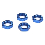 Losi 5IVE-T Wheel Nuts, Blue Anodized (4)