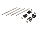 "Team Ottsix Racing Upper Links for TKO-10 Axle with Revo Link Ends (12"" WB)"
