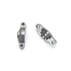 STRC ALUMINUM INTERNAL DIFF HOLDERS (1 PAIR) AXIAL WRAITH & YETI Gun Metal