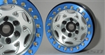 "SSD RC 1.9"" Champion Beadlock Wheels (Silver / Blue) (2)"