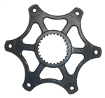600 Mini Sprint Brake/Sprocket Hub 5/16-20.  Black.