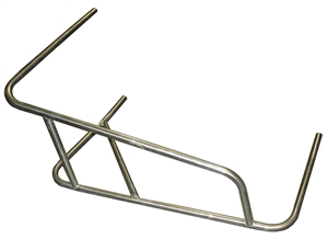 XXX Sprint Car Right Nerf 3-Point Long Battle Bar. Stainless Steel.
