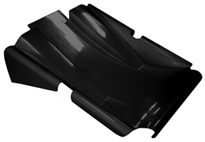 XXX Sprint Car Dual Duct Clean Air Nose.  Standard Height.  Black.