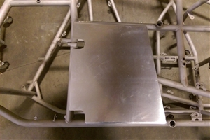 Sprint Car Right Rear Enclosure Panel. Bent RR Upright.