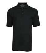 Bugatchi mens black fancy mercerized cotton polo shirt
