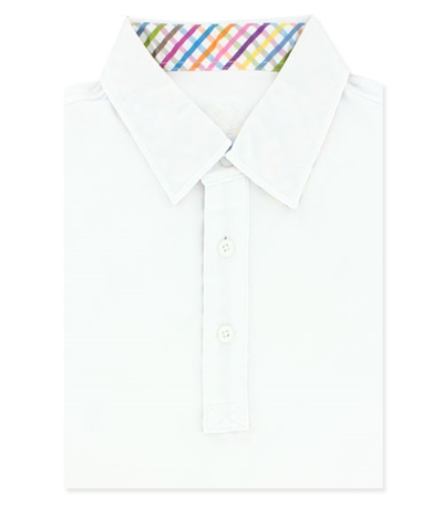 Bugatchi T-shirt polo short sleeve - L - chalk