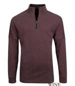 Bugatchi men'shalf zip long sleeve sweatshirt