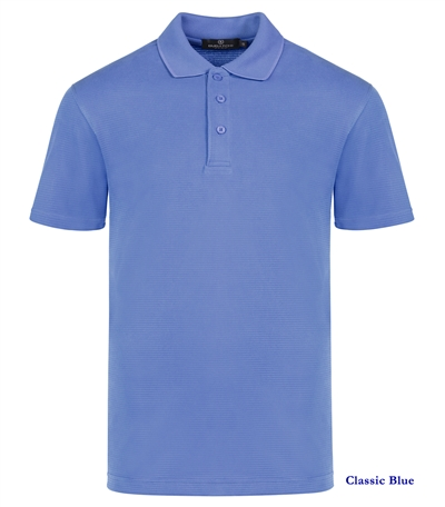 mens ribbed polo shirt small bugatchi classic blue