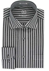 medium black stripe Bugatchi Uomo mens shirt