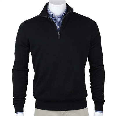Fairway and Greene Mens Baruffa Merino Classic Quarter Zip