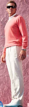 mens chino golf trousers - Ian Poulter